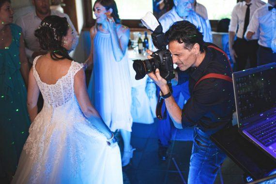 fotografo sposa ricevimento lavoro