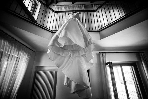 abito sposa bianco nero