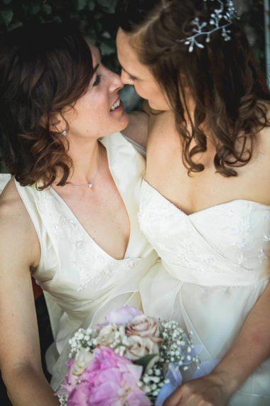 spose bacio fiori