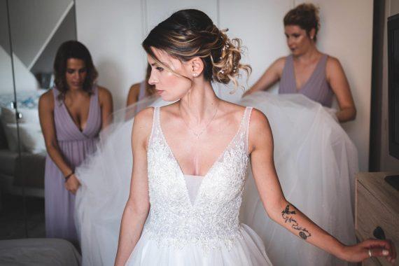 sposa abito damigelle tatuaggio