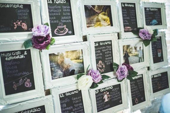 matrimonio tavoli fiori invitati