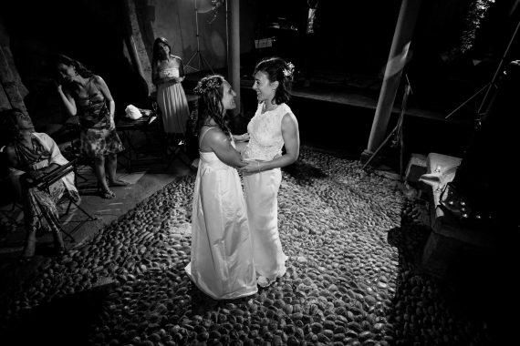 spose ballo ricevimento bianco nero