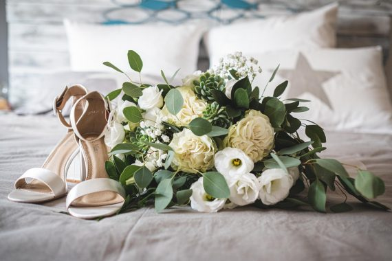 matrimonio scarpe bouquet accessori