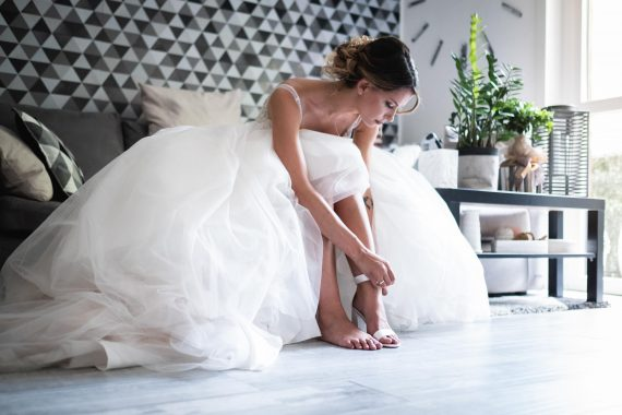 sposa abito scarpe