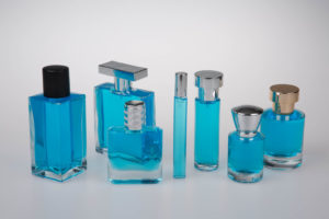 profumo boccetta azzurro