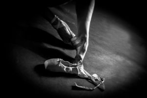 danna danza scarpette classica piedi particolare bianco nero