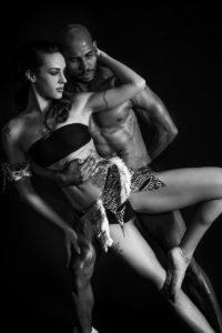 uomo donna danza tatoo bianco nero