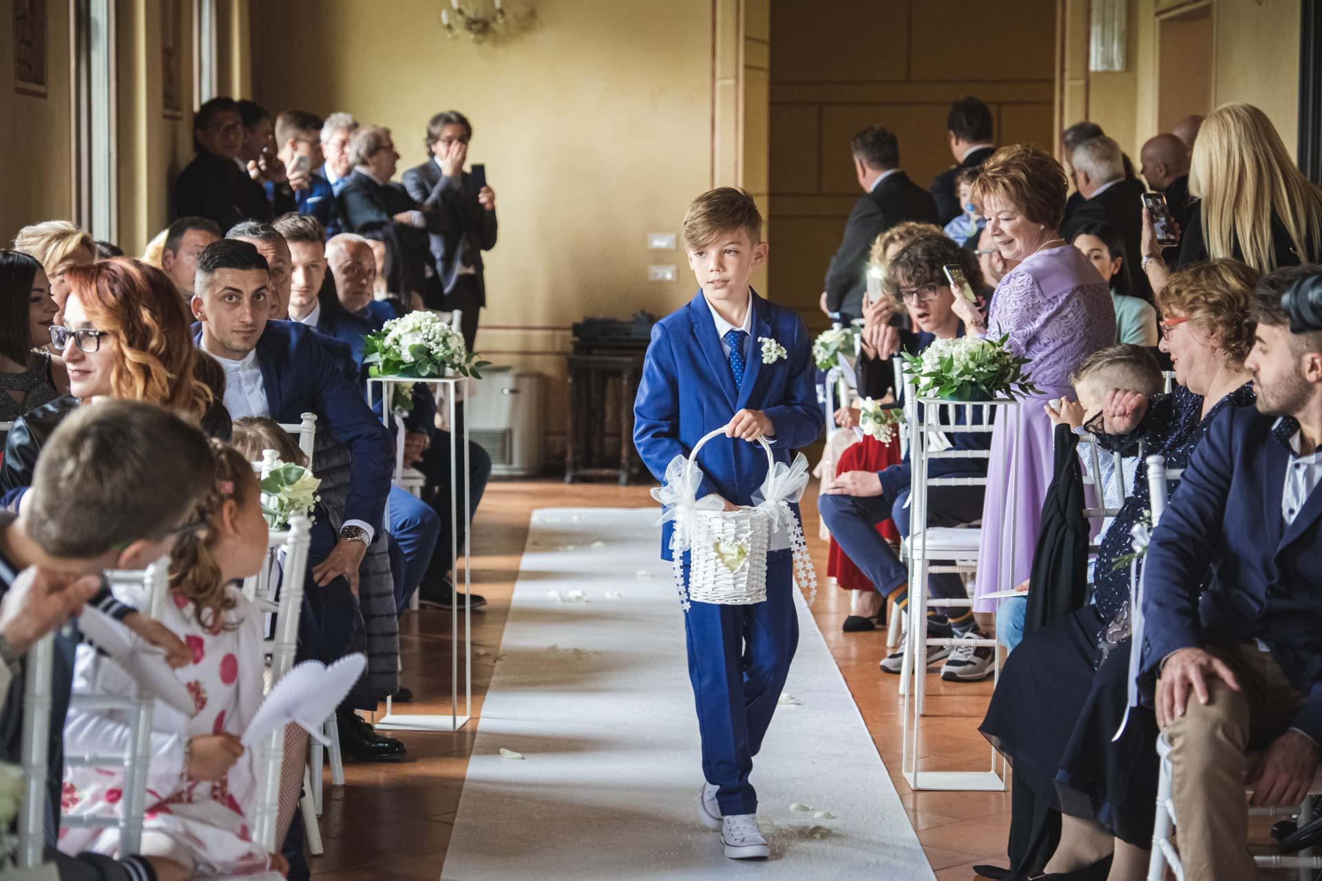 paggetto invitati celebrazione matrimonio
