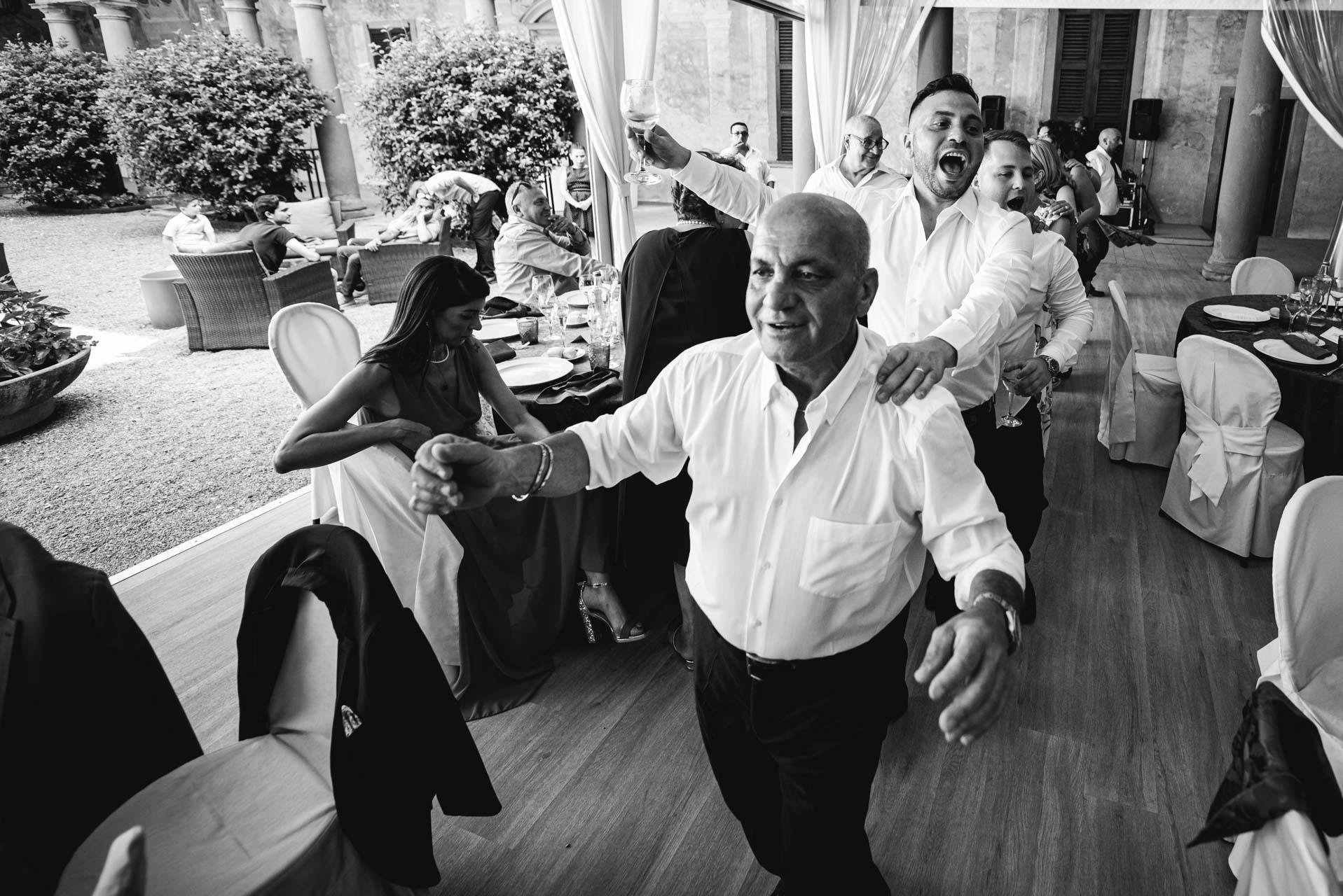 matrimonio invitati ricevimento ballo bianco e nero