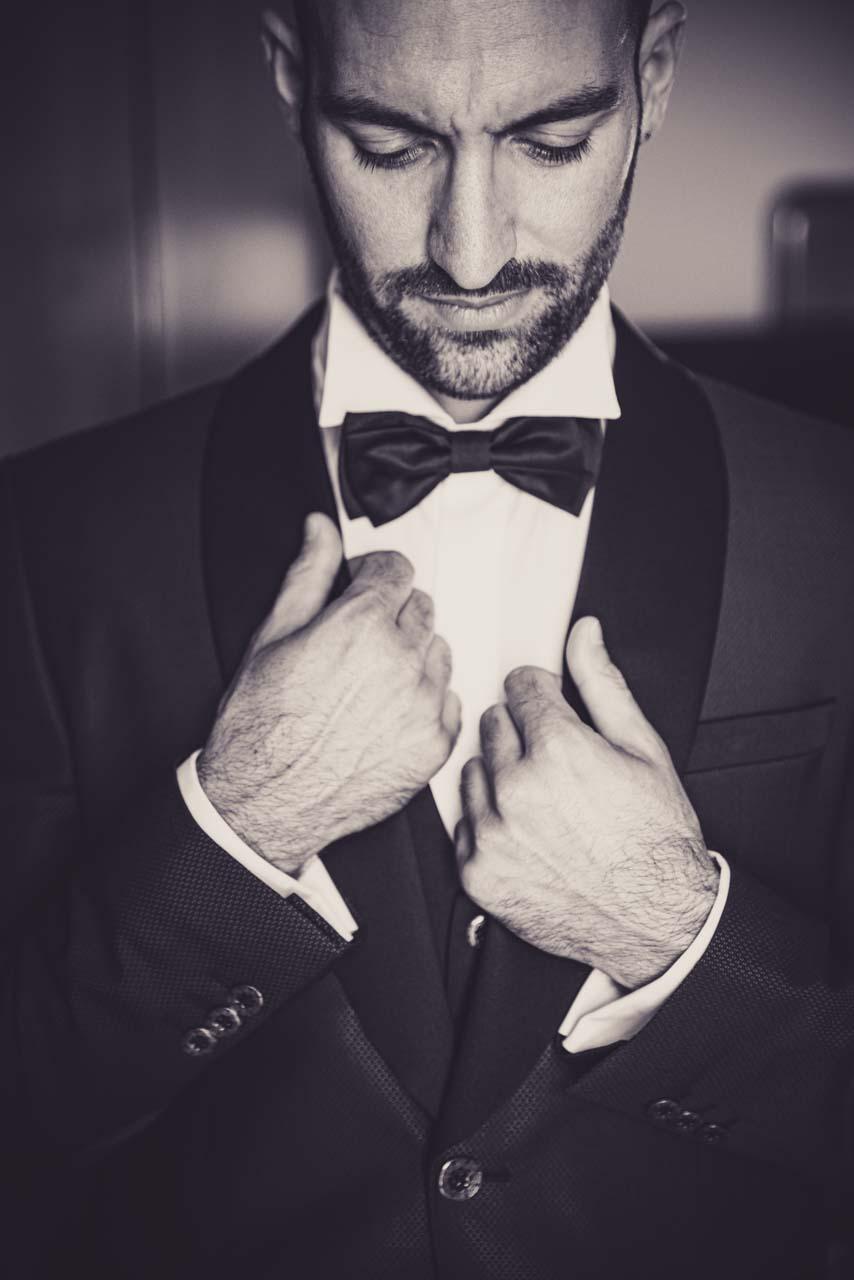 sposo giacca 3/4 bianco e nero