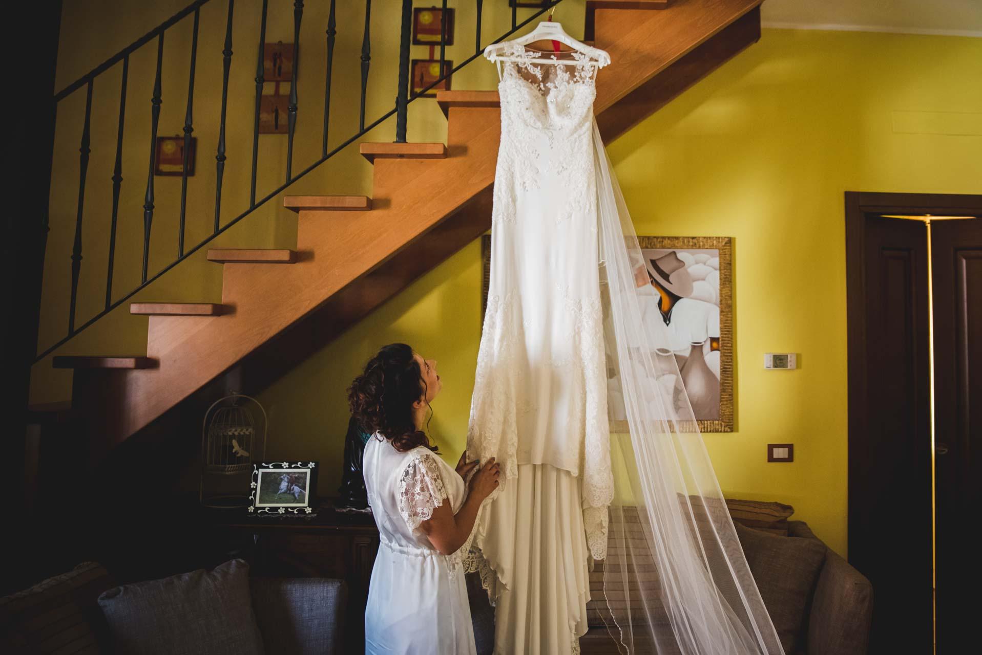 abito da sposa sposa scale