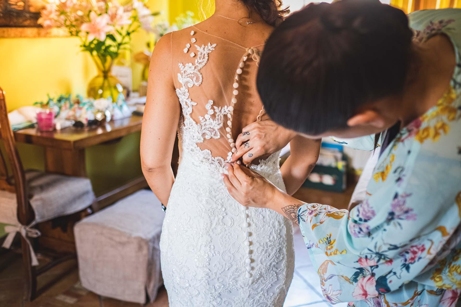 sposa abito trucco