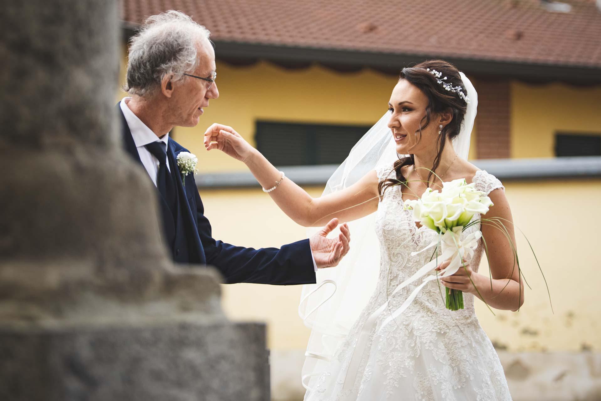 sposa papà fiori