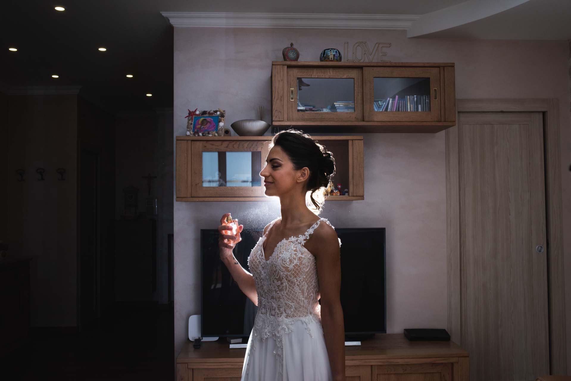 sposa abito profumo casa