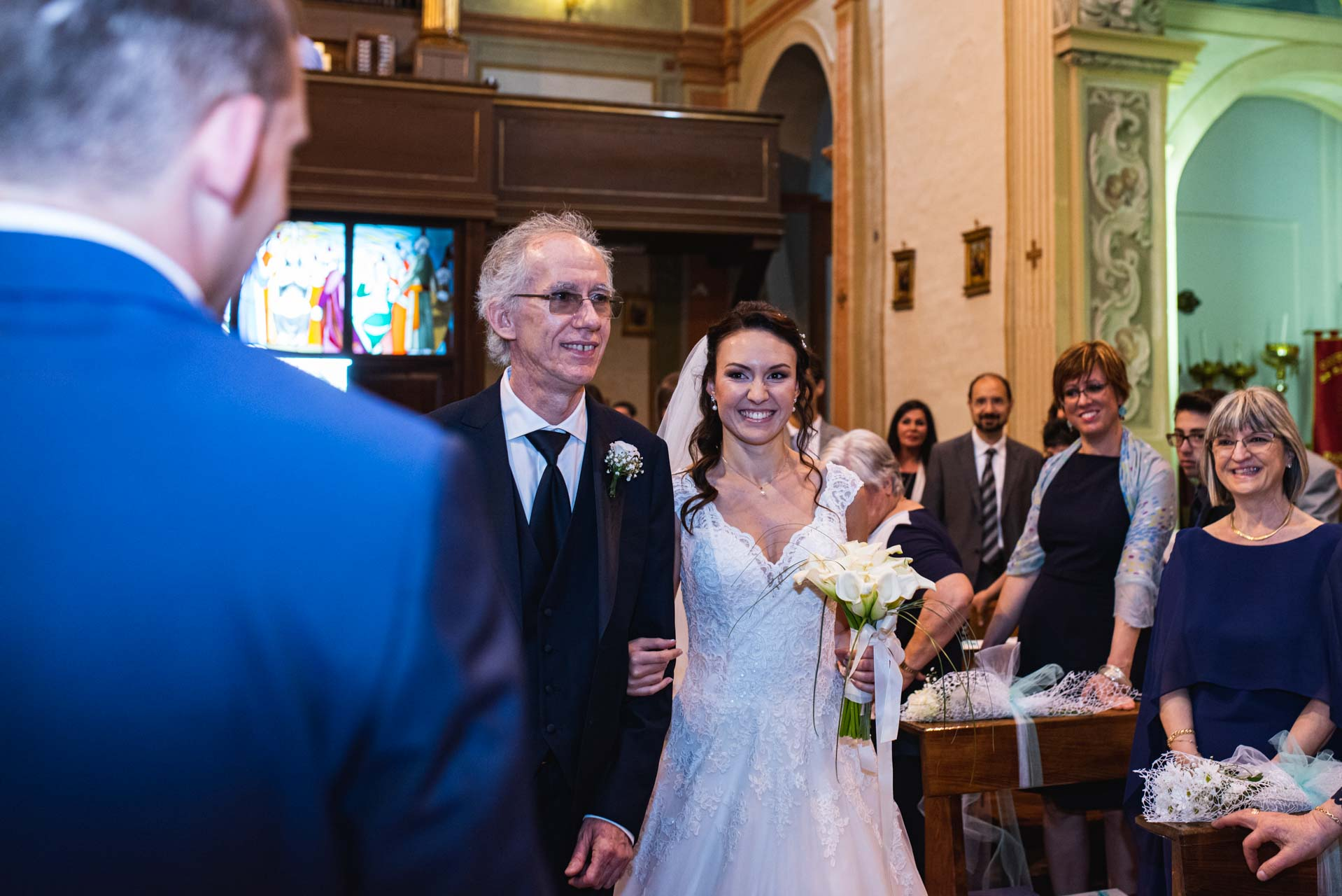 sposa papà ingresso celebrazioni invitati