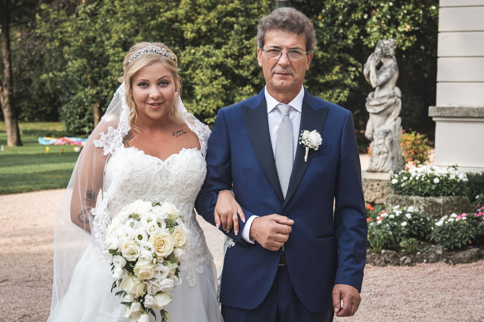 sposa bouquet papà