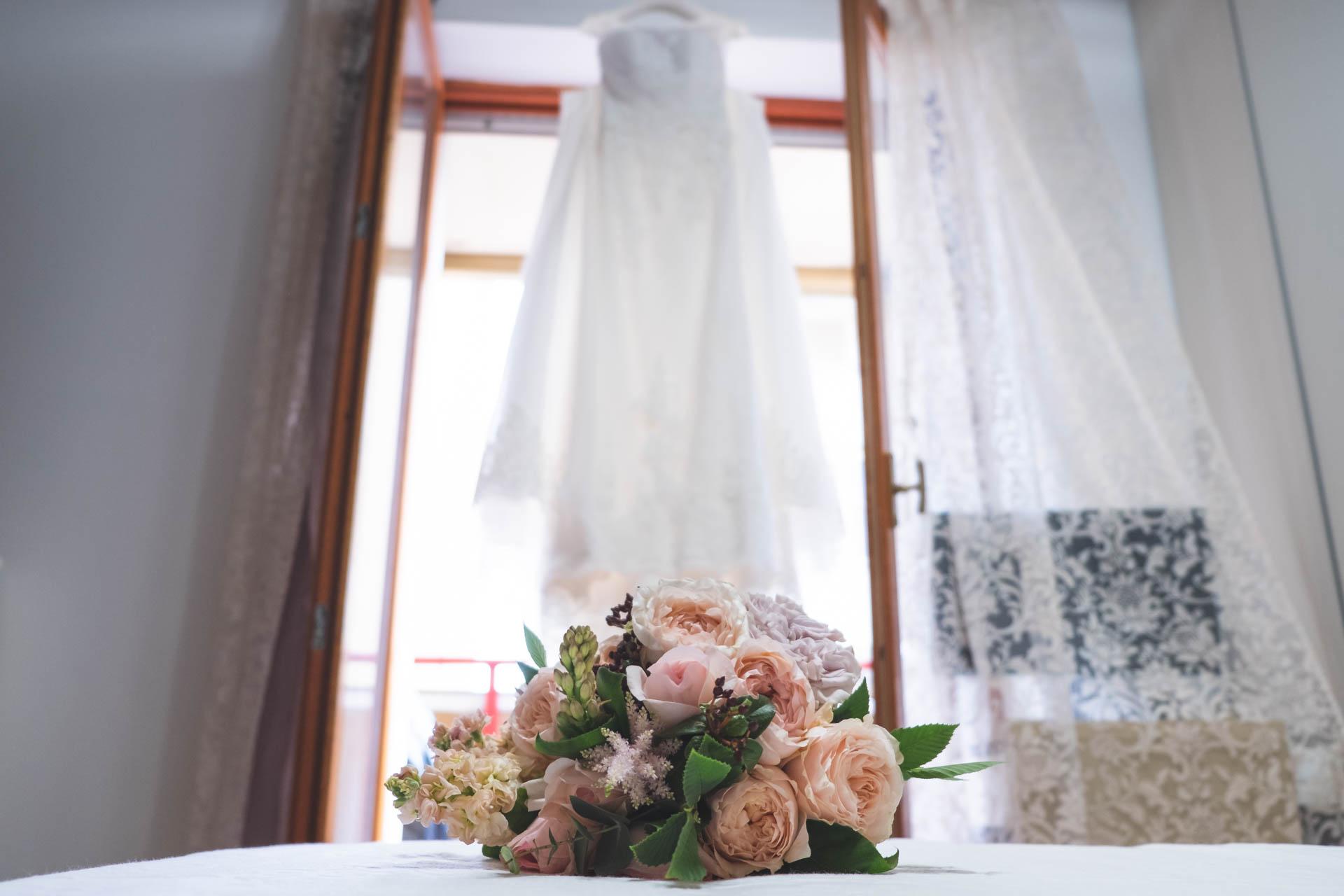 bouquet abito sposa
