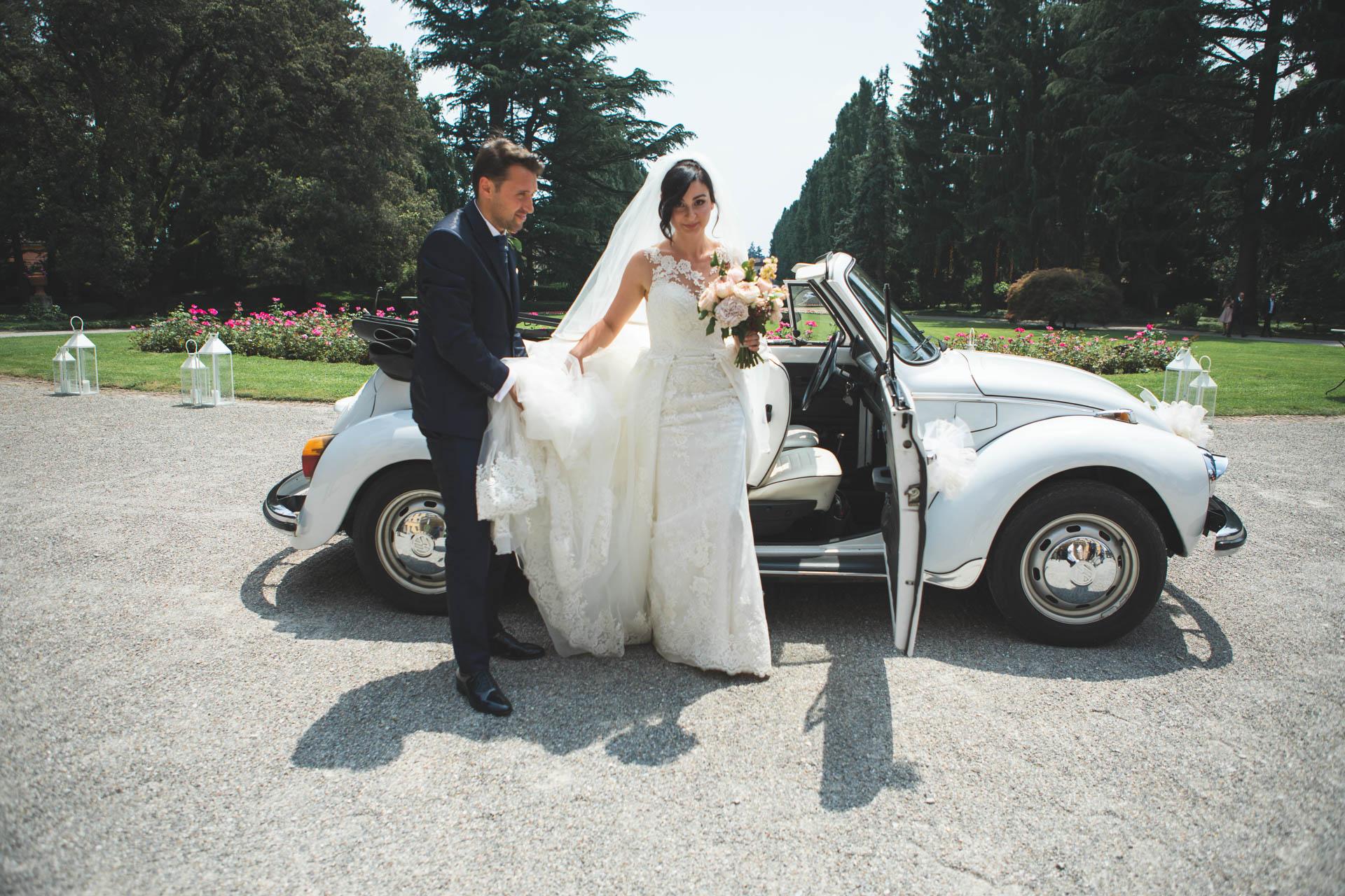 sposi auto ingresso