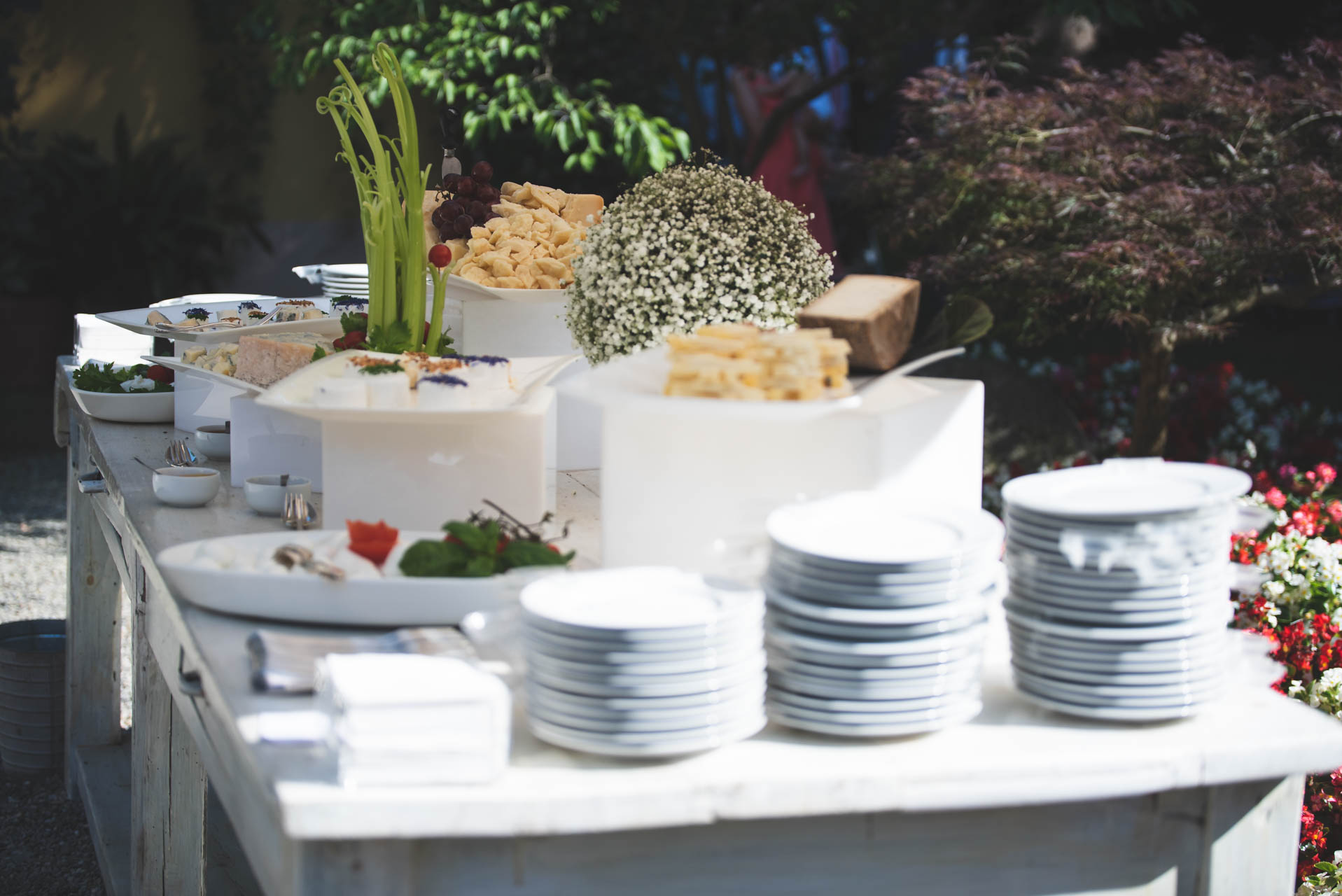 matrimonio buffet cibo