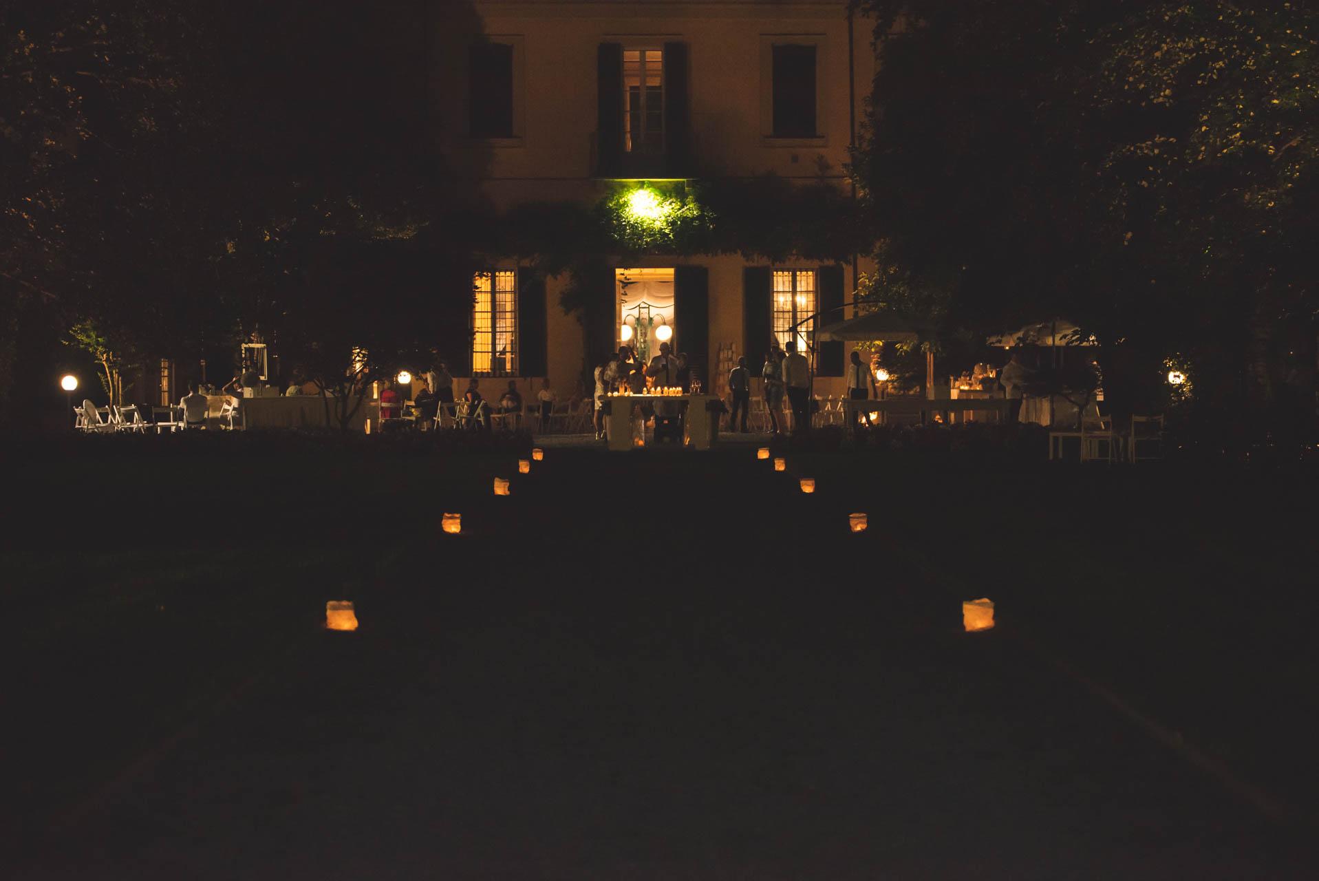 Villa Negri notte esterno